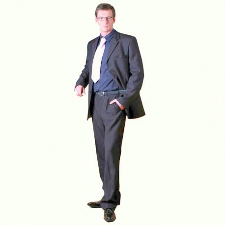 Šedý pánský oblek prodloužený na výšku 188 - 194 cm Galant 160603