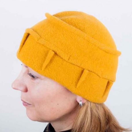 Hořčicová dámská elegantní čepice Tonak 87309