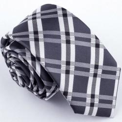 Slim kravata šedá Greg 99042