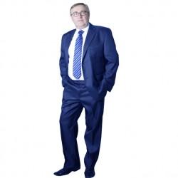 Modrý pánský oblek zkrácený Galant 160615