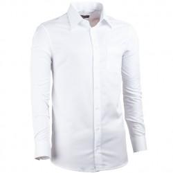 Prodloužená košile regular fit bílá Assante 20015