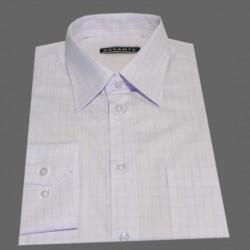 Prodloužená košile bílo fialové káro Assante 20614