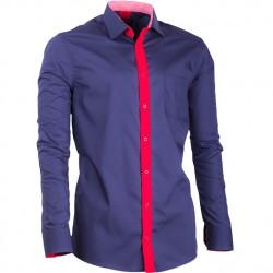 Prodloužená košile slim fit modrá Assante 20716