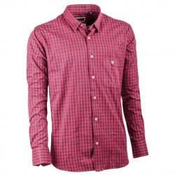 Tmavě červená flanelová košile Tonelli 110900