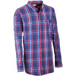 Nadměrná pánská košile 100 % bavlna modročervená Tonelli 110906