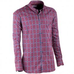 Červenomodrá flanelová košile Tonelli 110909