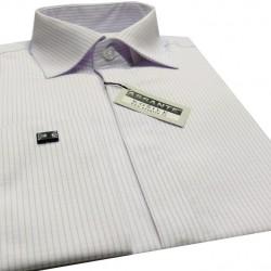 Prodloužená pánská košile manžetový knofliček Assante 20617