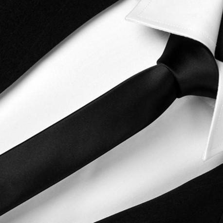 Slim černá kravata Greg 99101