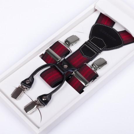 Luxusní kšandy kožená poutka Assante 90027