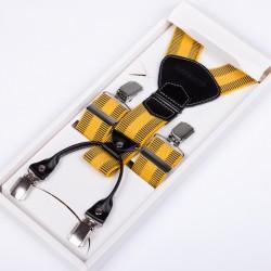 Luxusní kšandy kožená poutka Assante 90028