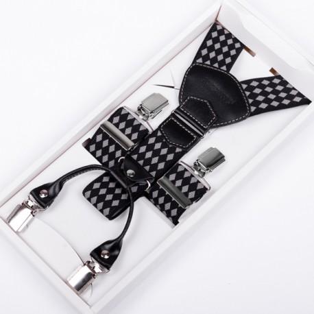 Luxusní kšandy kožená poutka Assante 90038