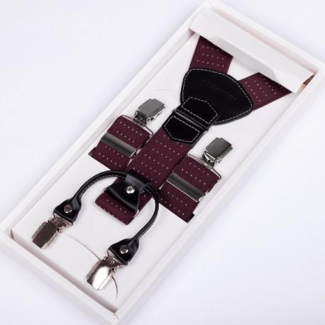 Luxusní kšandy kožená poutka Assante 90043