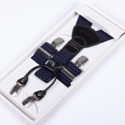 Luxusní kšandy kožená poutka Assante 90044