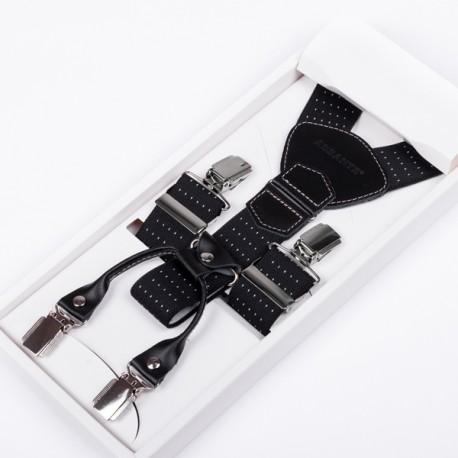 Luxusní kšandy kožená poutka Assante 90045