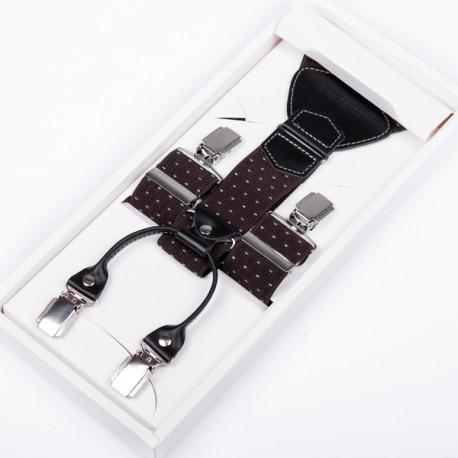 Luxusní kšandy kožená poutka Assante 90049