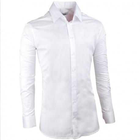 Svatební košile bílá vypasovaná slim fit Aramgad 30046
