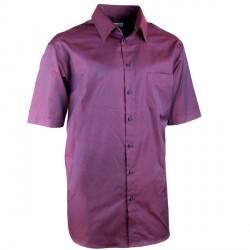 Elegantní bordó košile rovná regular fit Aramgad 40340