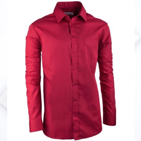 Bordó pánská košile s dlouhým rukávem slim Aramgad 30385
