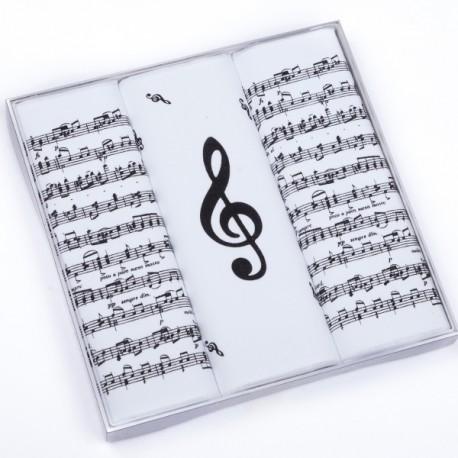 Hudební kapesník noty a houslový klíč Etex 90600