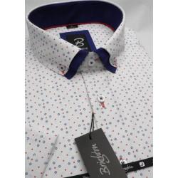 Modrá pánská košile s krátkým rukávem rovný střih Brighton 109983