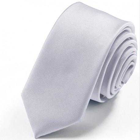 Šedá slim fit kravata Greg 99118