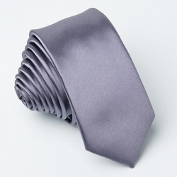 Tmavě šedá kravata slim fit Greg 99119
