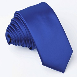 Švestkově modrá slim fit kravata Greg 99145