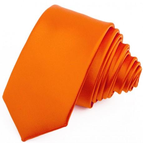 Oranžová kravata slim fit Greg 99174