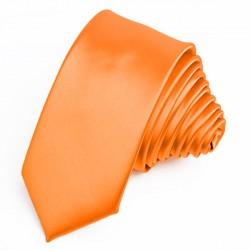Kravata oranžová slim fit Greg 99175