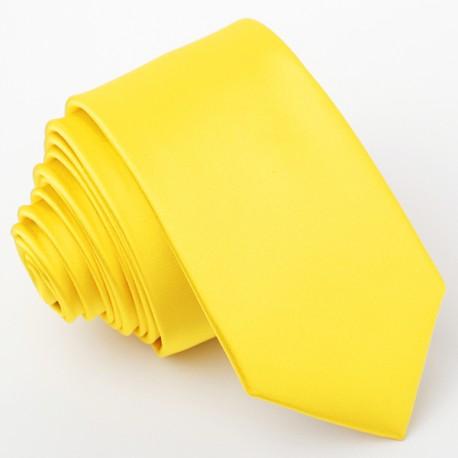 Žlutá kravata slim Greg 99183