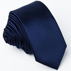 Tmavě modrá úzká kravata Greg 99146