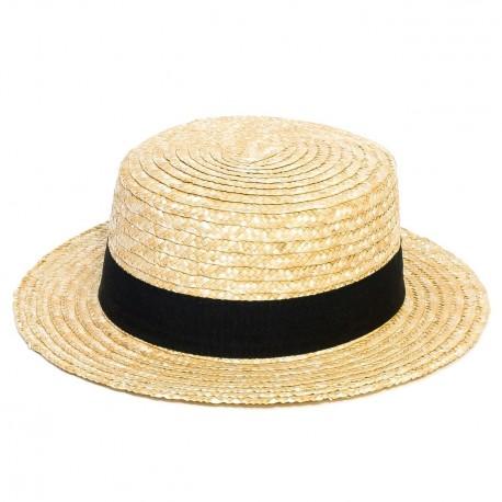 Béžový pánský klobouk Jonáš slaměný Mes 80019