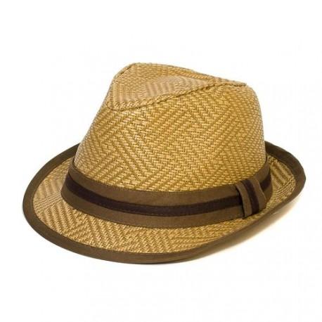 Letní klobouk barva hnědá Assante 161236