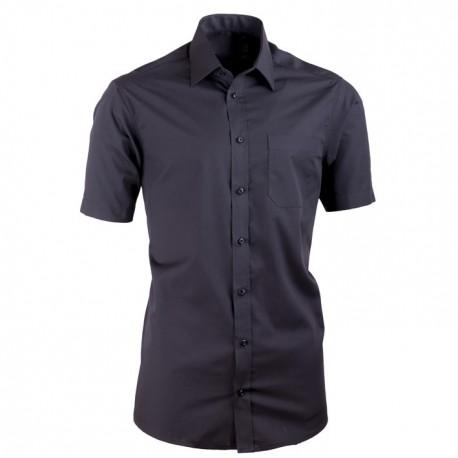 Černá pánské košile nadměrná velikost dlouhý rukáv Tonelli 110811