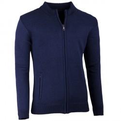 Tmavě modrý pánský svetr na zip Assante 51015