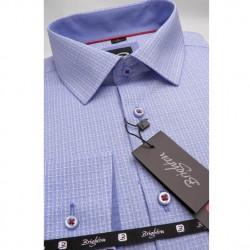 Modrá pánská košile dlouhý rukáv s podšitým límcem Brighton 109991