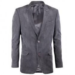 Prodloužené pánské sako šedé na výšku 188 – 194 cm Assante 60006