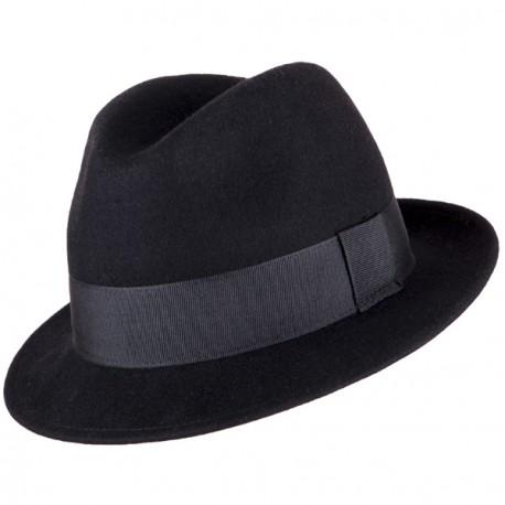 Pánský černý klobouk 85032