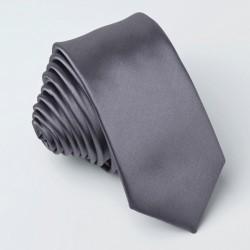 Tmavě šedá kravata jednobarevná Greg 99913