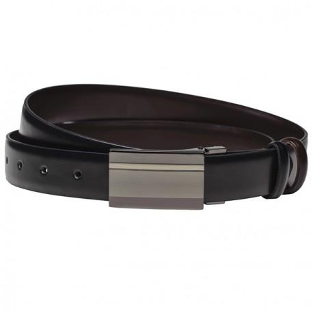 Černý pánský opasek kožený Assante 90805