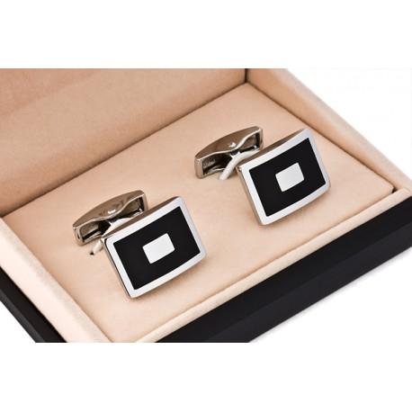 Černé manžetové knoflíčky Assante 90506