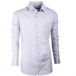 Extra prodloužená pánská košile slim fit šedá Assante 20119