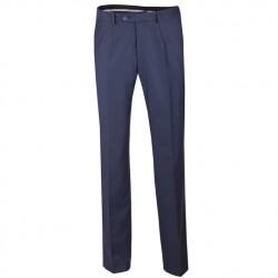 Nadměrné pánské modré společenské kalhoty Assante 60524