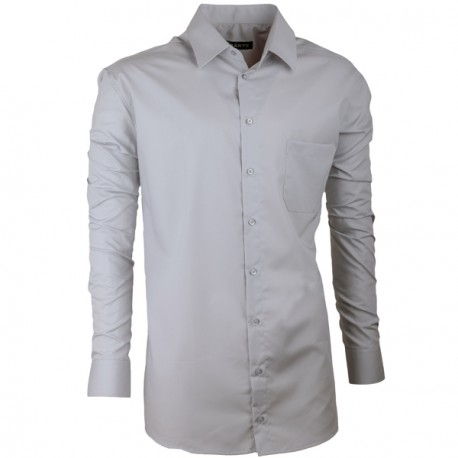 5039ad5dc1a Prodloužená pánská košile slim fit šedá Assante 20118