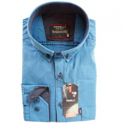 Nadměrná košile pánská rovný střih modrá Tonelli 110915