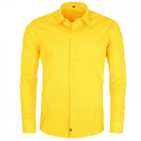 Žlutá nadměrná pánská košile rovná Friends and Rebels 31036