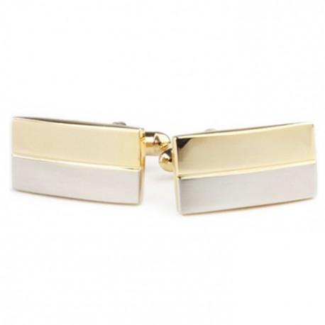 Manžetové knoflíčky stříbrné barvy Assante 90536