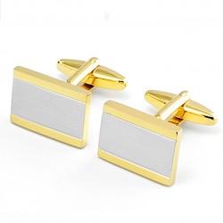 Manžetové knoflíky zlato stříbrné barvy Assante 90574