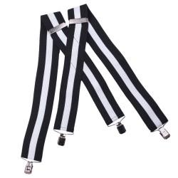 Černo bílé šle super široké Assante 90116