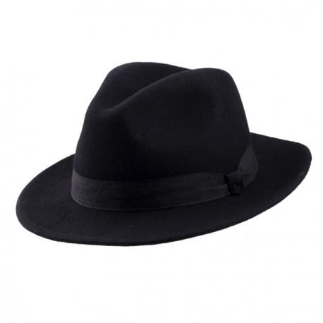 Černý pánský klobouk Mes 85028